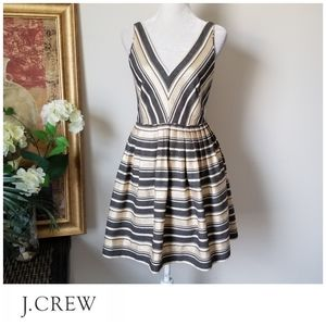 🌟 J. Crew Fit and Flare Striped Dress
